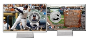 Prince Fielder Silver Plate Coin Card