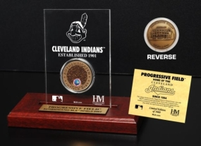 Progressive Field Infield Dirt Coin Etched Acrylic