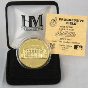 Progressive Field 24KT Gold Commemorative Coin