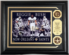 "Reggie Bush ""Dominance"" Photo Mint w/ 2 24KT Gold Coins"