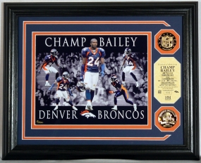 "Champ Bailey ""Dominance"" Photo Mint w/ two 24KT Gold Coins"