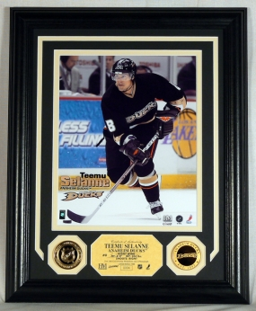 Teemu Selanne 24KT Gold Coin Photo Mint