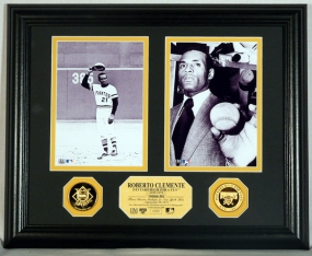 "Roberto Clemente 3000th Hit Gold Coin ""Duo"" Photo Mint"