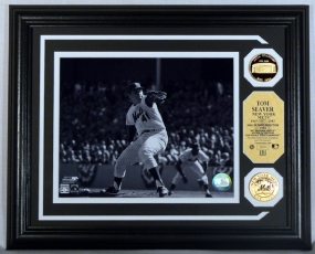 Tom Seaver Gold Coin Photo Mint w/two 24KT Gold Coins