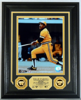 Willie Stargell Gold Coin Photo Mint w/two 24KT Gold Coins