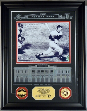Ted Williams Final at Bat Archival Etched Glass Photo Mint