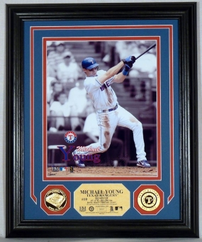 Michael Young 24KT Gold Coin Photo Mint