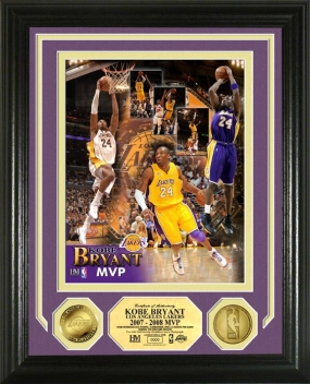 Kobe Bryant 2008 NBA MVP 24KT Gold Coin Photomint