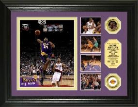 Kobe Bryant 2008 NBA MVP 24KT Gold Coin Highlight Photomint