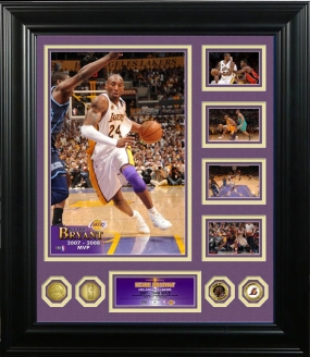 Kobe Bryant 2008 NBA MVP 24KT Gold Coin Grand Highlight Photomint