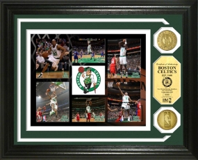 Boston Celtics 24KT Gold Coin Photo Mint