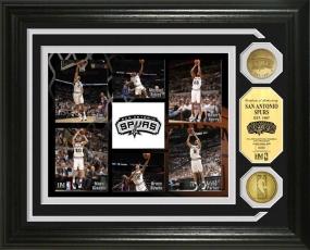 San Antonio Spurs 24KT Gold Coin Photo Mint