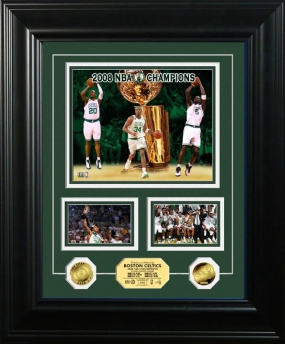 Boston Celtics 2008 NBA Champions Marquee Gold Coin Photo Mint