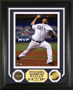 Matt Garza 2008 ALCS MVP 24KT Gold Coin Photo Mint