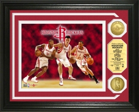 Houston Rockets Big Three 24KT Gold Coin Photo Mint
