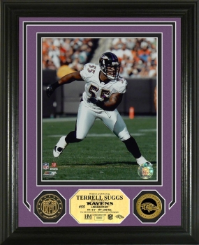 Terrell Suggs 24KT Gold Coin Photo Mint