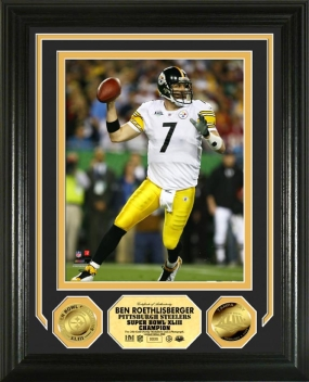 Ben Roethlisberger Super Bowl XLIII 24KT Gold Photo Mint
