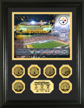 Pittsburgh Steelers 6x Super Bowl Champions 24KT Gold Coin Photo Mint