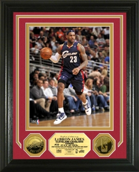 Lebron James 24KT Gold Coin Photo Mint