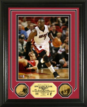 Dwyane Wade 24KT Gold Coin Photo Mint