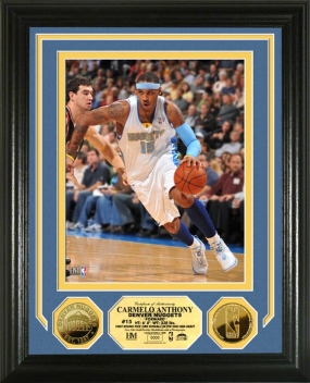Carmelo Anthony 24KT Gold Coin Photo Mint