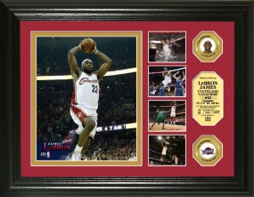 Lebron James 24KT Gold Coin Highlight Photo Mint