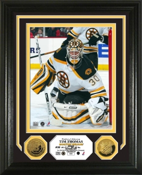 Tim Thomas 24KT Gold Coin Photo Mint