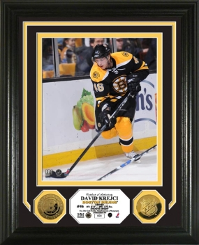 David Krejci 24KT Gold Coin Photo Mint