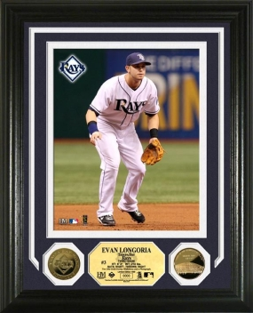 Evan Longoria 24KT Gold Coin Photo Mint