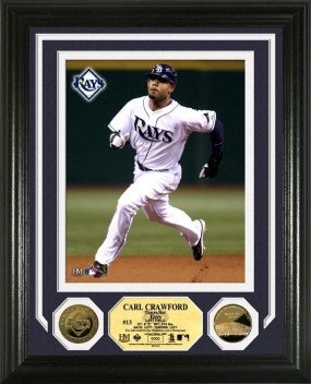Carl Crawford 24KT Gold Coin Photo Mint