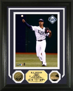 BJ Upton 24KT Gold Coin Photo Mint