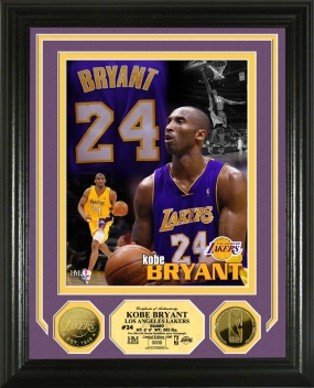 Kobe Bryant Hoops Heroes 24KT Gold Coin Photo Mint