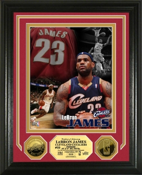 LeBron James Hoops Heroes 24KT Gold Coin Photo Mint