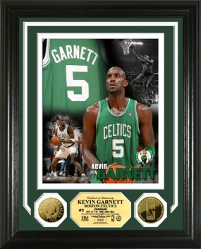 Kevin Garnett Hoops Heroes 24KT Gold Coin Photo Mint