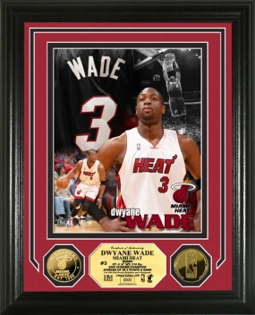 Dwyane Wade Hoops Heroes 24KT Gold Coin Photo Mint