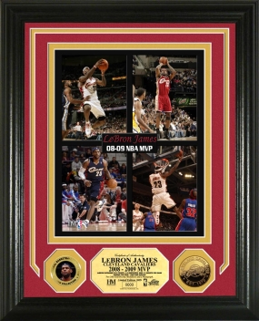 Lebron James 2008 - 09 NBA MVP 24KT Gold Coin Photo Mint