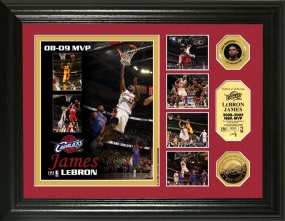 Lebron James 2008 - 09 NBA MVP Highlight 24KT Gold Coin Photo Mint