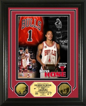 Derrick Rose 2008  09 NBA Rookie of the Year 24KT Gold Coin Photo Mint