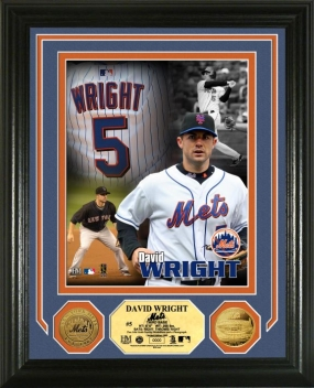 David Wright All Star 24KT Gold Coin Photo Mint