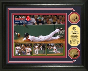 Jacoby Ellsbury Steals Home 24KT Gold Coin Photo Mint