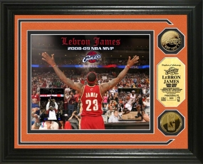 Lebron James MVP 24KT Gold Coin Photo Mint