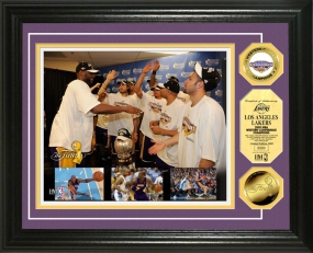 Los Angeles Lakers 2009 Western Conference Champions Celebration 24KT Gold Coin Photo Mint