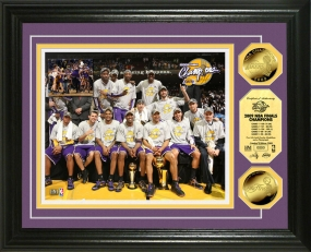 Los Angeles Lakers 2009 NBA Champions Celebration 24KT Gold Coin Photo Mint