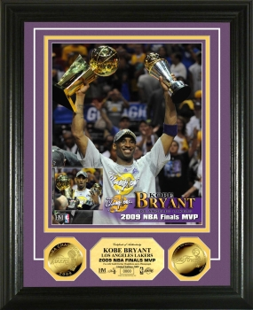 Kobe Bryant 2009 NBA Finals MVP 24KT Gold Coin Photo Mint