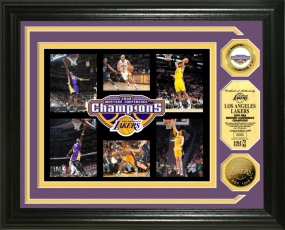 Los Angeles Lakers 2009 NBA Western Conference Champions 24KT Gold Coin Photo Mint