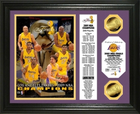 Los Angeles Lakers 2009 NBA Champions Photo Mint with Roster Scroll