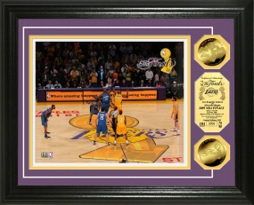 L.A. Lakers 2009 NBA Finals Tip Off 24KT Gold Coin Photo Mintt
