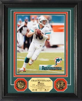 Chad Pennington 24KT Gold Coin Photo Mint