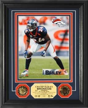 Champ Bailey 24KT Gold Coin Photo Mint