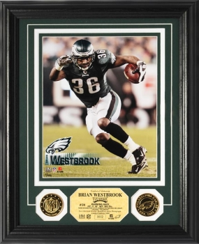 Brian Westbrook 24KT Gold Coin Photo Mint